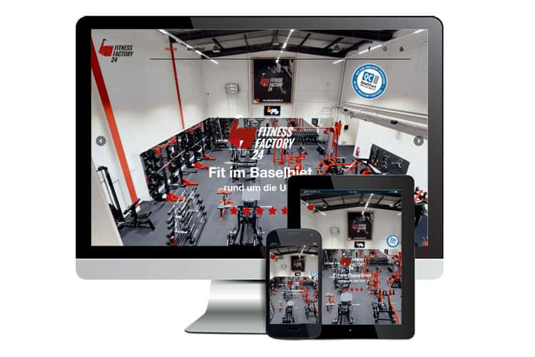 Webdesign für Fitness Factory 24