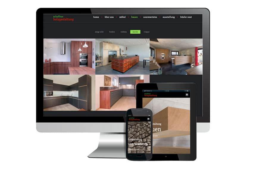 Webdesign für Holzgestaltung.ch