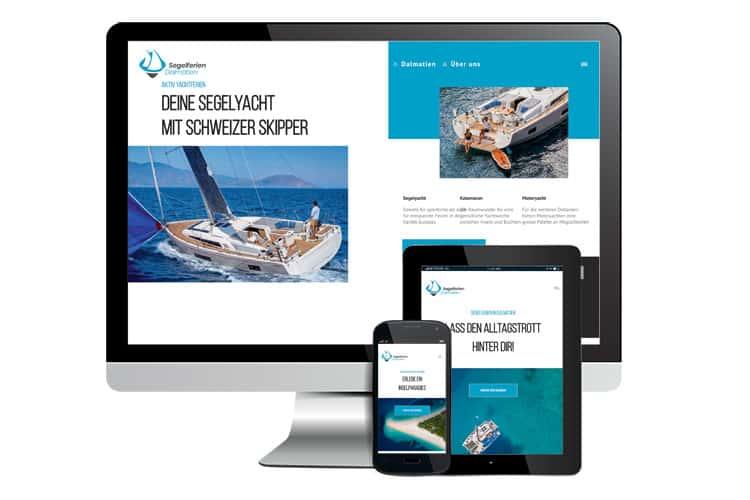 Website und SEO Segelferien Dalmatien