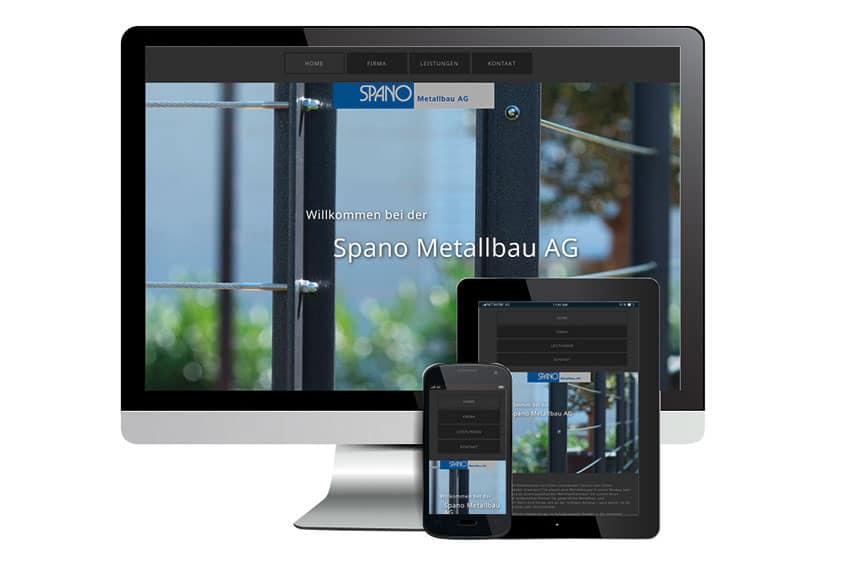 Website und SEO für Spano Metallbau aus Zwingen