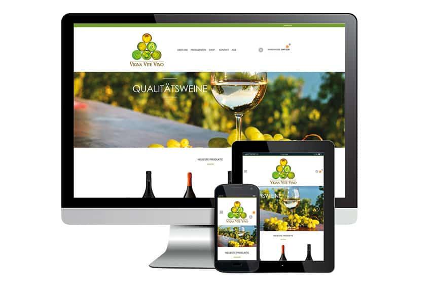 e-Commerce Shop für VIGNA VITE VINO